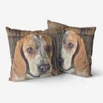 Load image into Gallery viewer, Custom pet pillow, pet pillow, personalized pillow, Dog portrait pillow - Personalisiertes Kissen: Your rust art style pet on a cushion! A