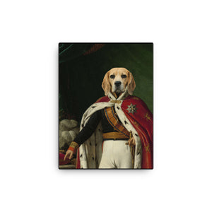 Napoleon Pet, Custom Pet Portrait, Pet Canvas Portrait, Royal Pet Portrait, Personalised Pet Canvas, Elevate your pet to the next level with this custom pet canvas