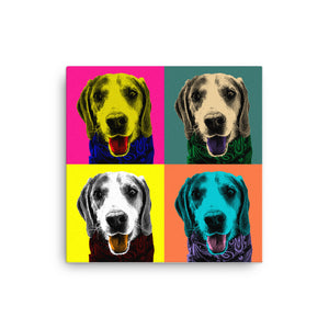 Customisable Andy Warhol Pet Pop Art Portrait, Custom Pet Portrait, Pet Canvas Portrait, Royal Pet Portrait, Personalised Pet Canvas, Elevate your pet to the next level with this custom canvas