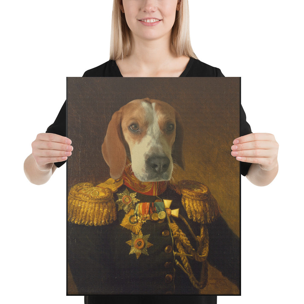 Russian General, Custom Pet Portrait, Pet Canvas Portrait, Royal Pet Portrait, Personalised Pet Canvas, Elevate your pet to the next level with this custom pet canvas