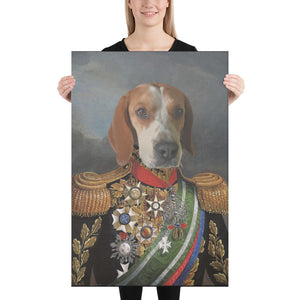 Prussian General, Custom Pet Portrait, Pet Canvas Portrait, Royal Pet Portrait, Personalised Pet Canvas, Elevate your pet to the next level with this custom pet canvas