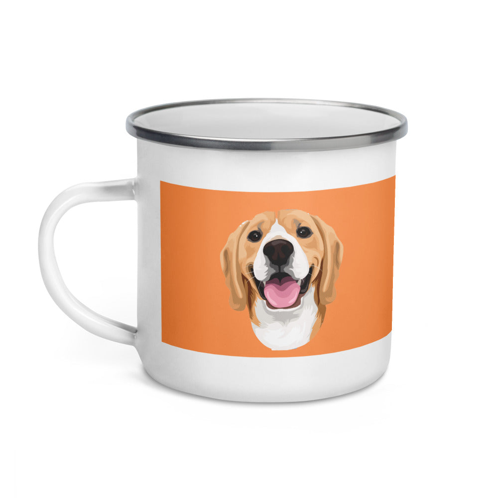 Custom Eco enamel mug, custom pet mug, personalized dog mugs, dog photo mug, dog coffee mug