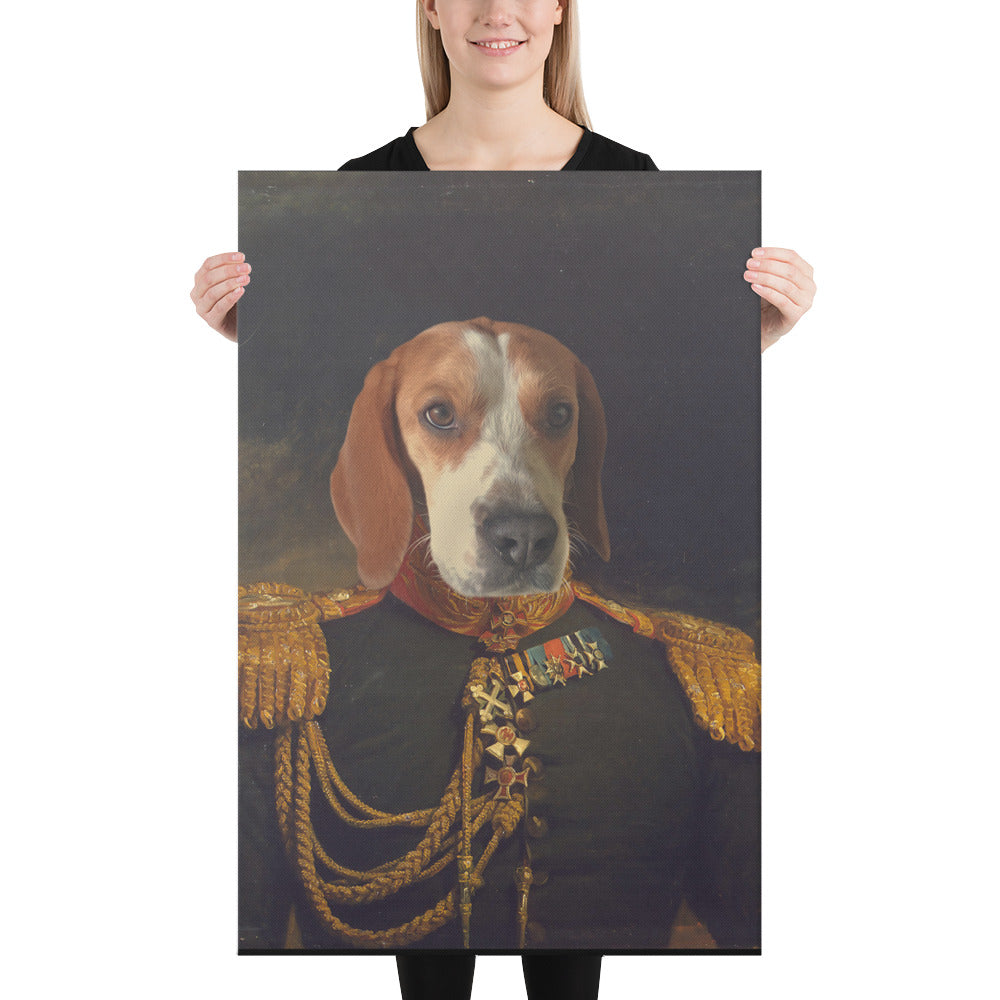 Italian General, Custom Pet Portrait, Pet Canvas Portrait, Royal Pet Portrait, Personalised Pet Canvas, Elevate your pet to the next level with this custom pet canvas