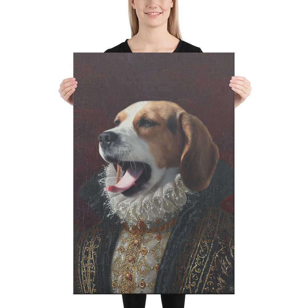 Noble Frenchman, Custom Pet Portrait, Pet Canvas Portrait, Royal Pet Portrait, Personalised Pet Canvas, Elevate your pet to the next level with this custom canvas