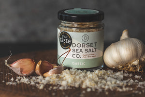 Garlic infused Dorset Sea Salt 125g