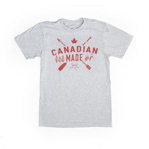 Load image into Gallery viewer, Heather Grey Canadian Made T-Shirt - PolarPiece | Simply Canadian