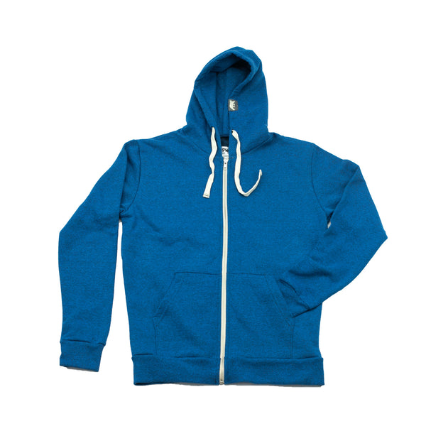 Electric Blue Heather PolarHoodie - PolarPiece | Simply Canadian