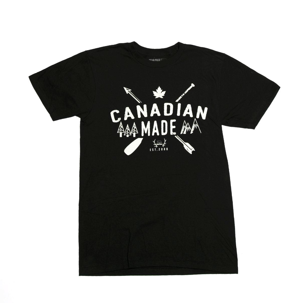 Black Canadian Made T-Shirt - PolarPiece | Simply Canadian