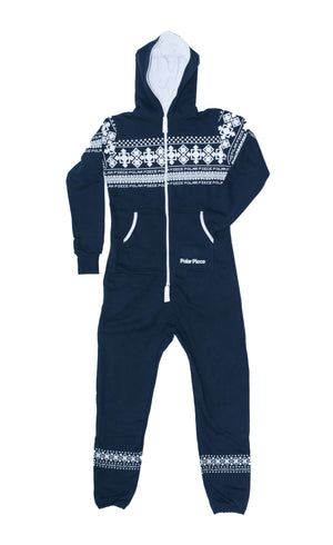 Load image into Gallery viewer, Navy PolarPiece with Arctic Print - PolarPiece | Simply Canadian