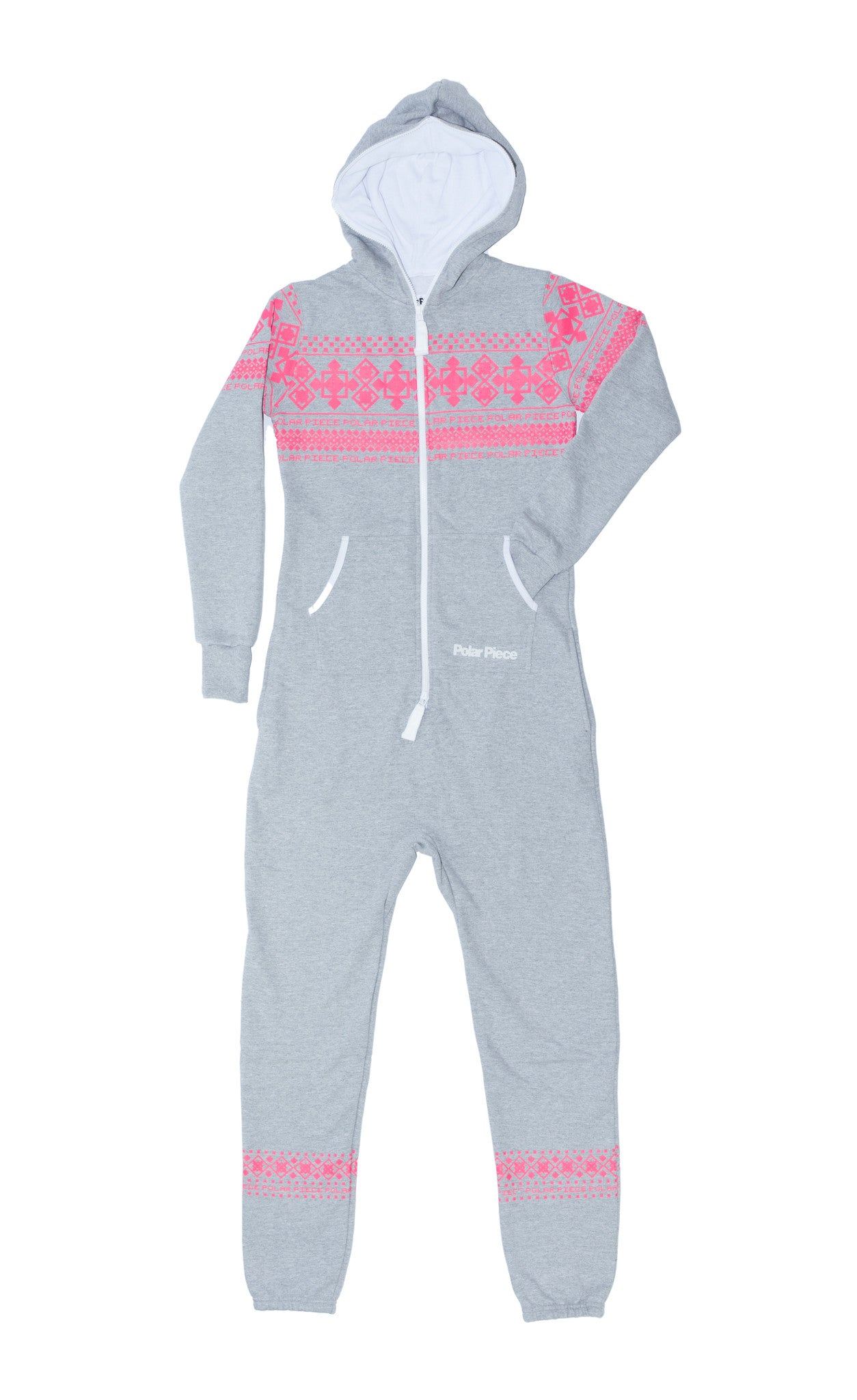 Light Grey PolarPiece with Pink Arctic Print - PolarPiece | Simply Canadian