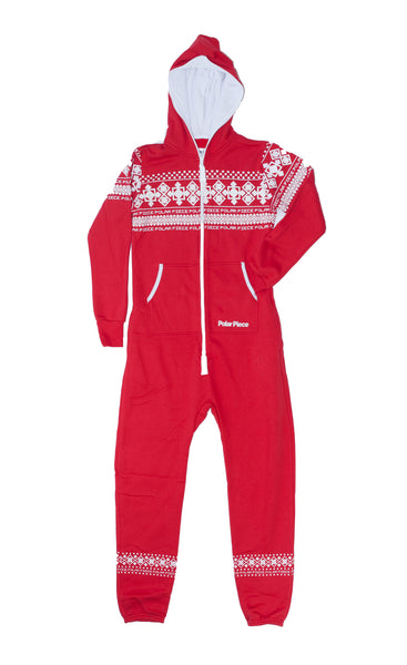 Kids Canadian Red PolarPiece with Arctic Print - PolarPiece | Simply Canadian