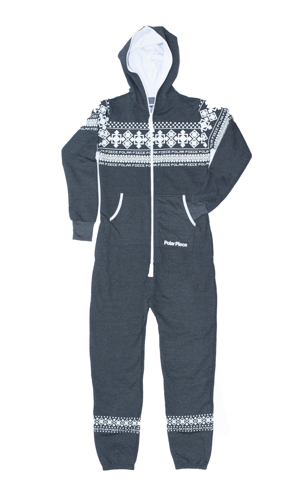 Charcoal PolarPiece with Arctic Print - PolarPiece | Simply Canadian