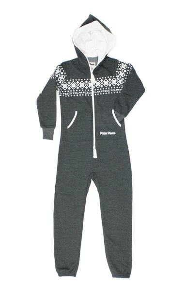 Charcoal Kids Polar Piece with Arctic Print - PolarPiece | Simply Canadian