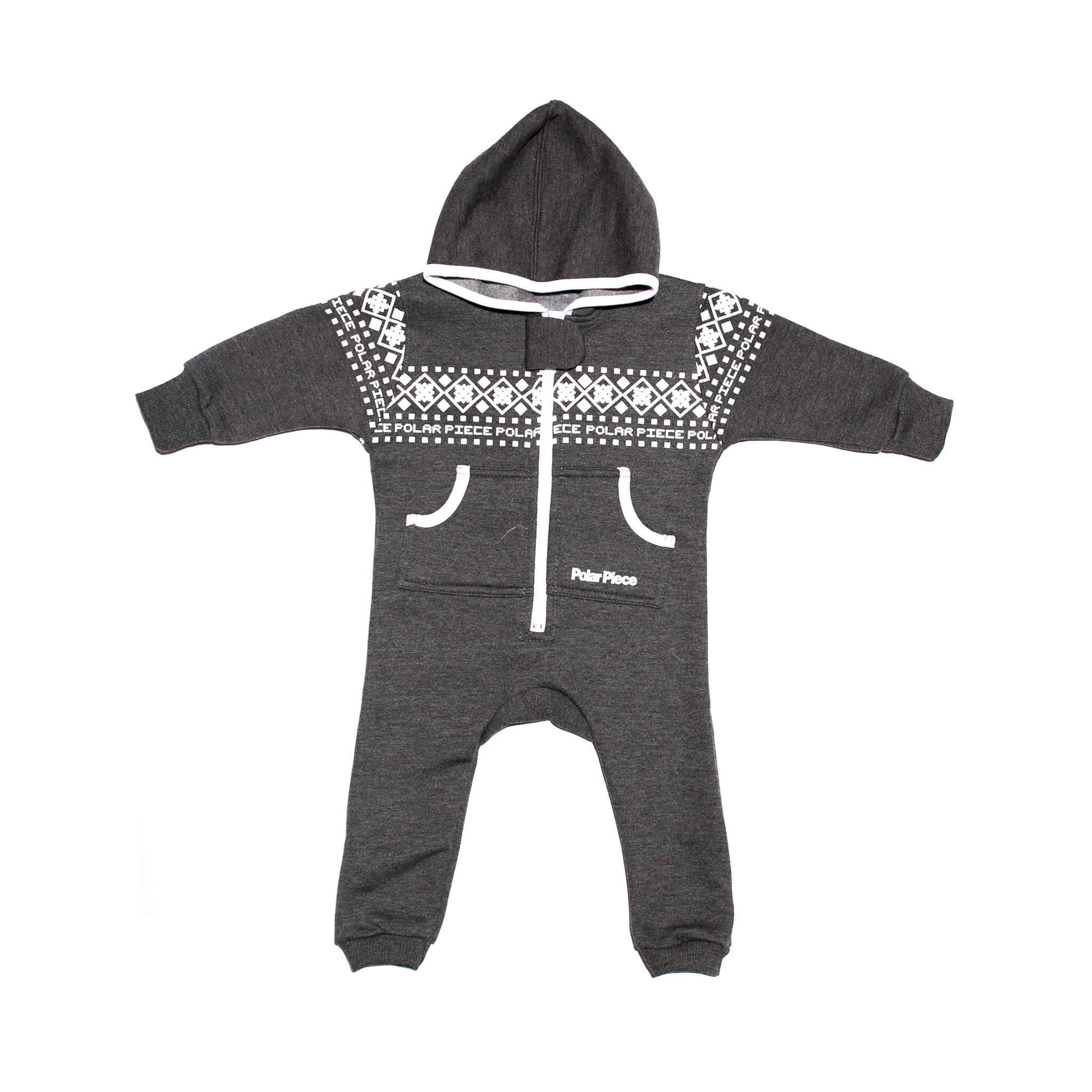 Charcoal with Arctic Print PolarCub - PolarPiece | Simply Canadian