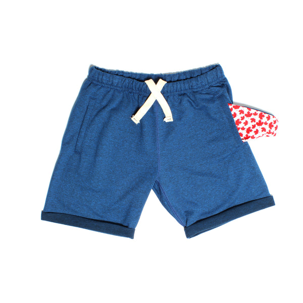 Electric Blue Heather Polar Shorts