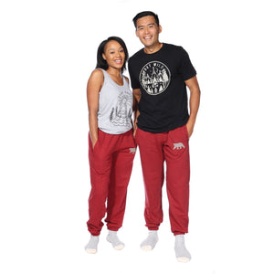 Load image into Gallery viewer, Polar Pants (Cranberry Heather)