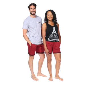 Load image into Gallery viewer, Polar Shorts (Cranberry Heather)