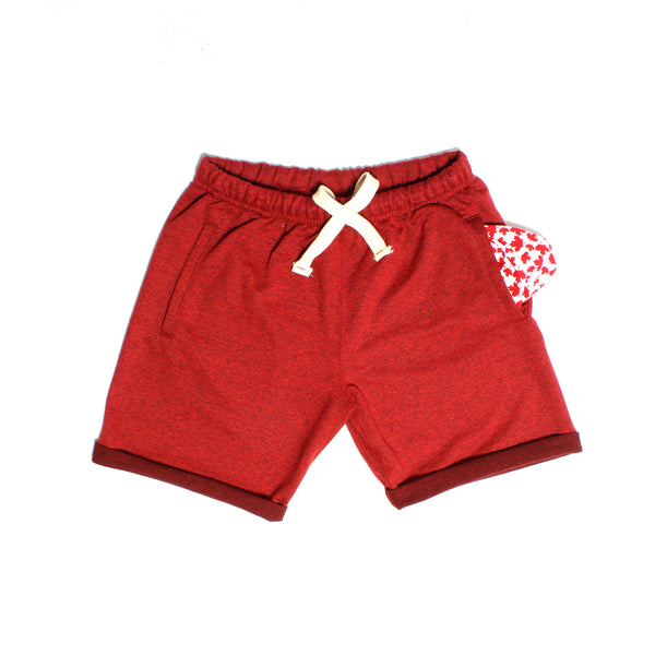 Cranberry Heather Polar Shorts