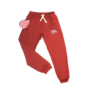 Load image into Gallery viewer, Cranberry Heather Polar Pants - PolarPiece | Simply Canadian