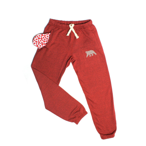 Cranberry Heather Polar Pants