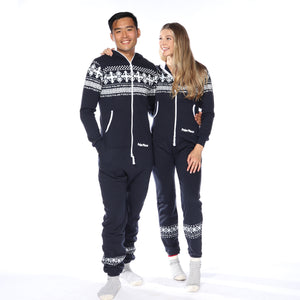 Navy PolarPiece with Arctic Print