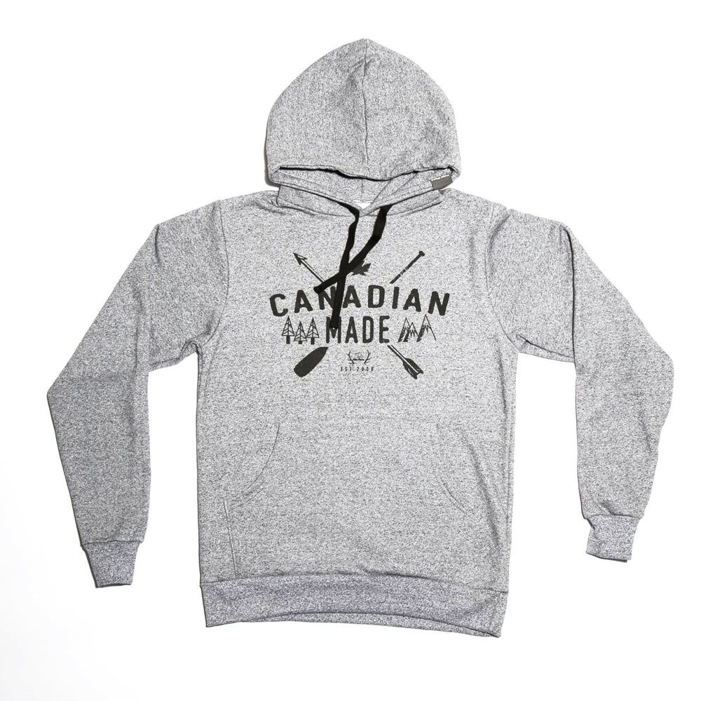 Canadian Made Pullover Hoodie (Salt & Pepper)
