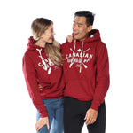 Canadian Made Pullover Hoodie (Cranberry Heather)