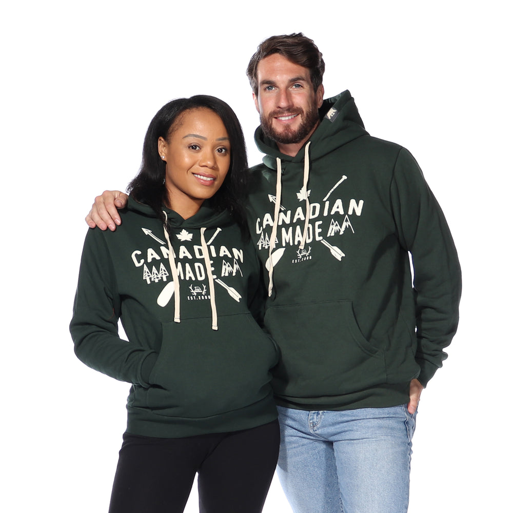 Canadian Made Pullover Hoodie (Forest Green)