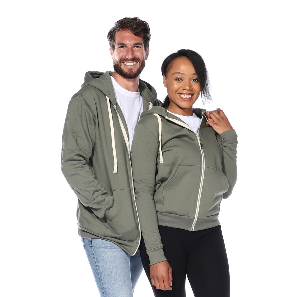 Load image into Gallery viewer, Zip Hoodie (Army Green)