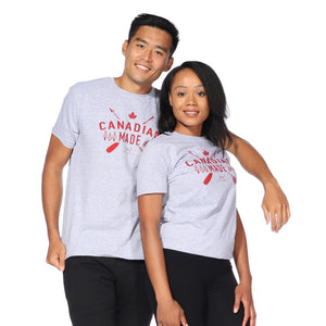 Load image into Gallery viewer, Heather Grey Canadian Made T-Shirt