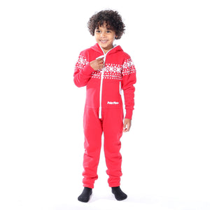Kids Canadian Red PolarPiece with Arctic Print