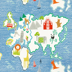"37lfm. Designers Guild ""Around the World"" cobalt"