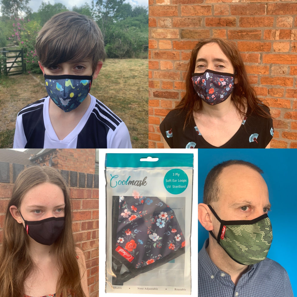 Washable & Reusable Fashion Face Masks for Adults & Kids