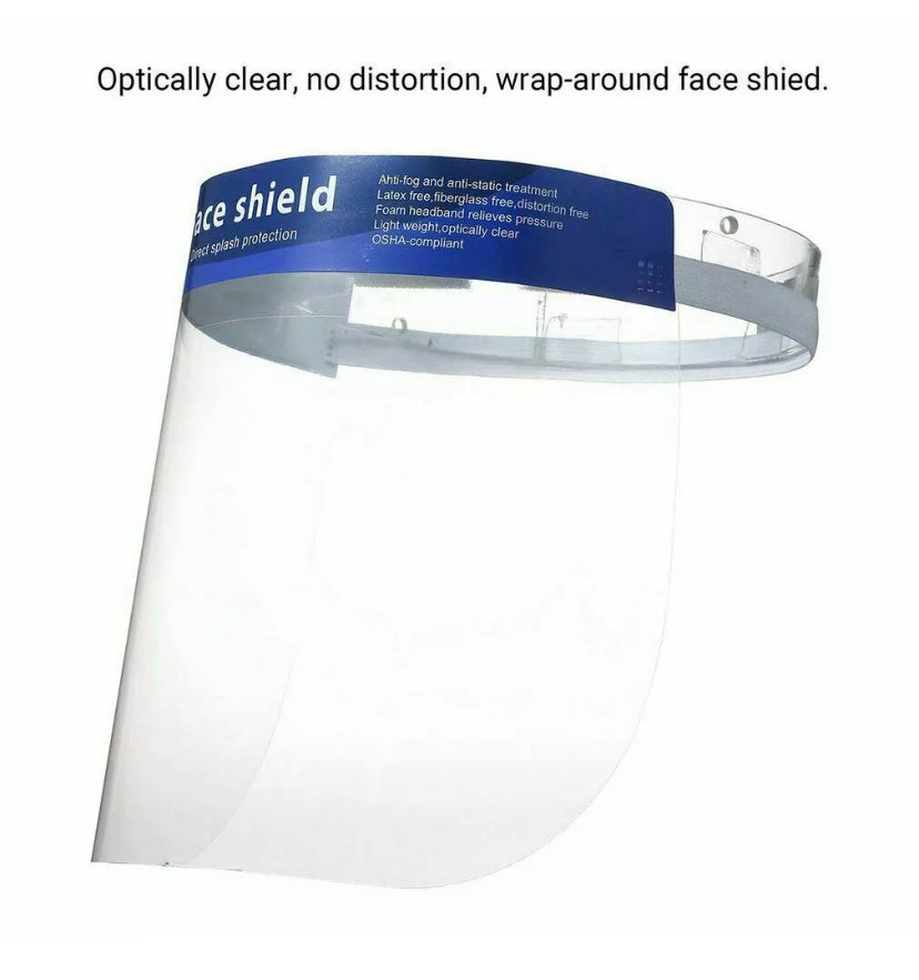😷 5 Face Shields - Face Shield - Direct Splash Protection for eyes, nose & mouth