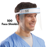 500 Face Shields - Reusable & Wipeable Face shields (Only £2.49 each)