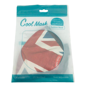 😷 3 Layer Washable & Reusable Face Mask - Adult - Union Jack