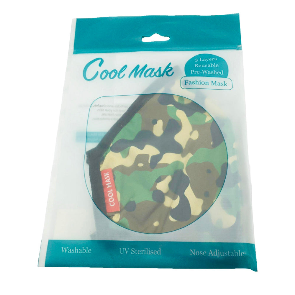 😷 3 Layer Washable & Reusable Face Mask - Adult - Camouflage Original