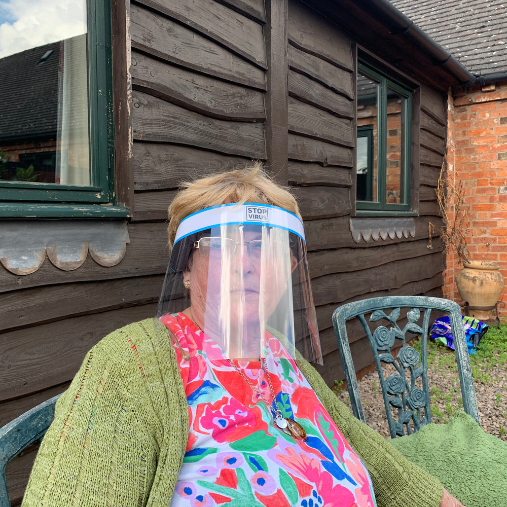 😷 Elderly & Pensioner Reusable Face Shield - Eyes, Nose & Mouth Face Shield