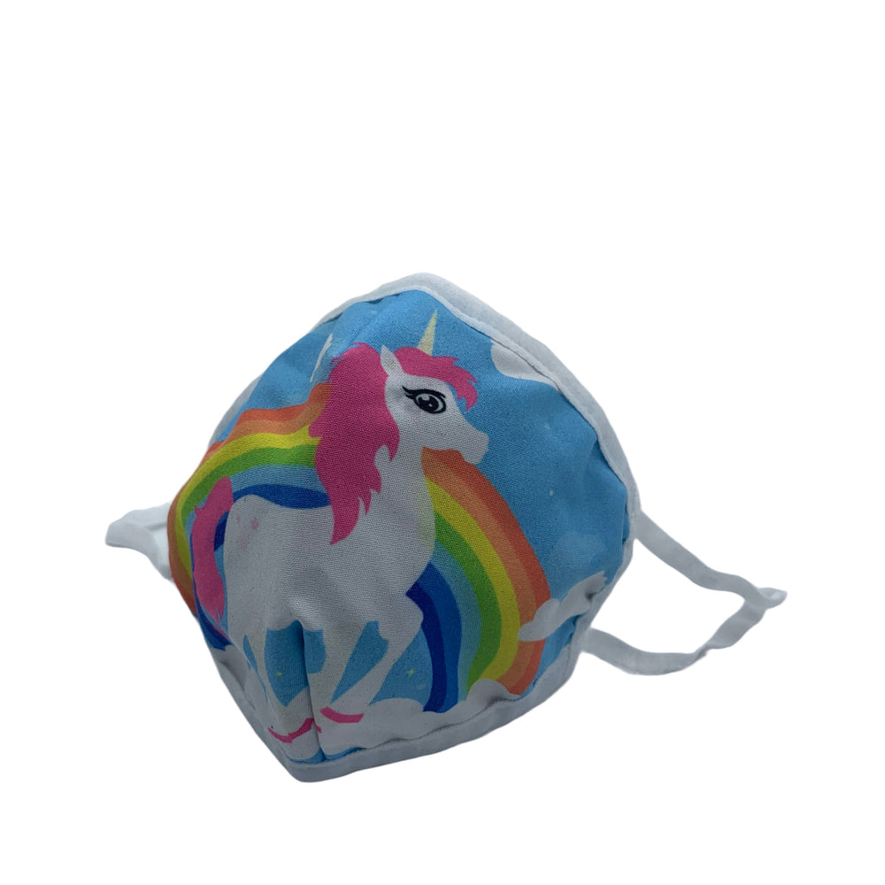 😷 3 Layer Washable & Reusable Face Mask - Kids - Unicorn
