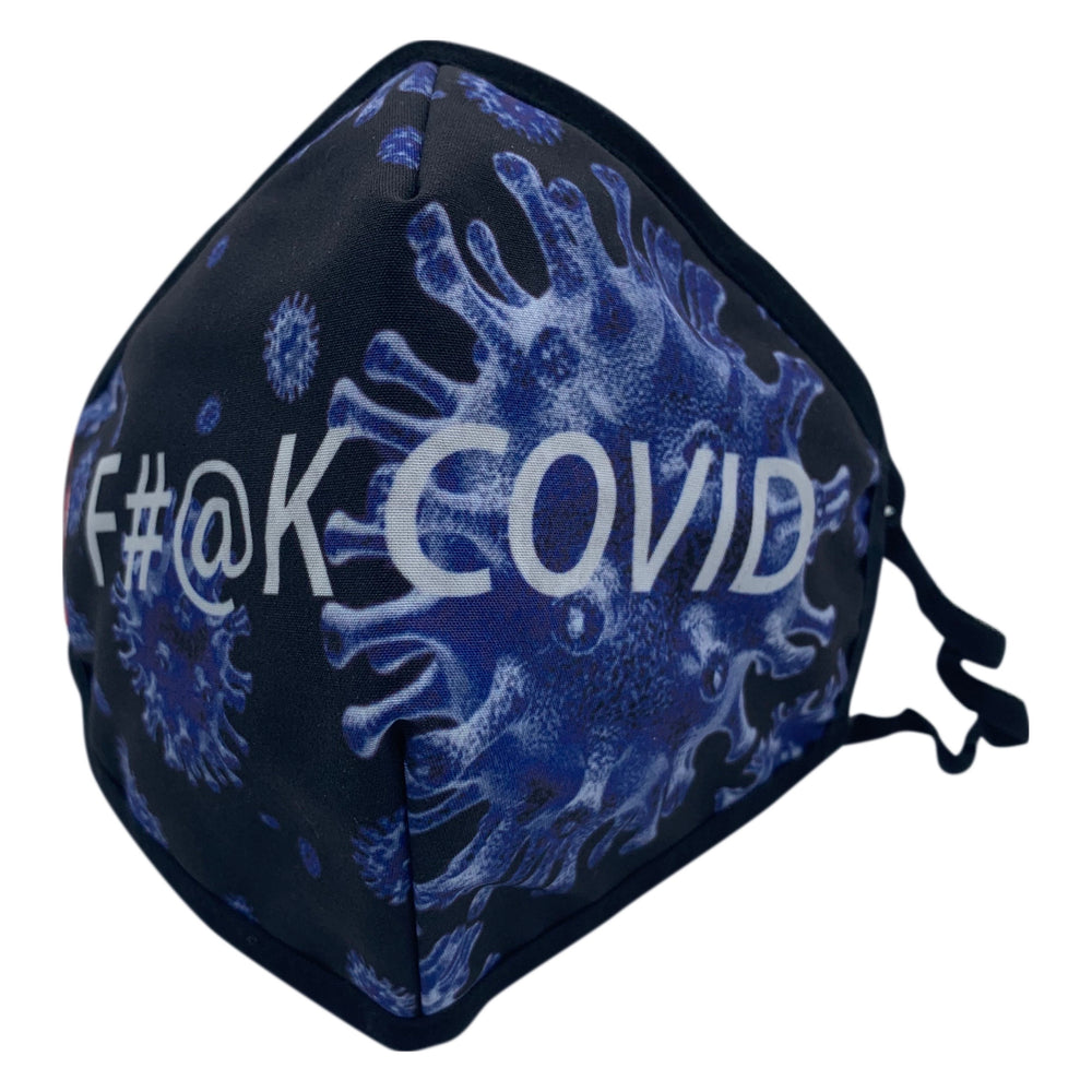😷 3 Layer Washable & Reusable Face Mask - Adult -  F#@k COVID