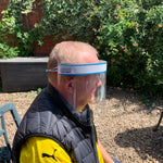 😷 2 Elderly & Pensioner Reusable Face Shields - Eyes, Nose & Mouth Face Shield