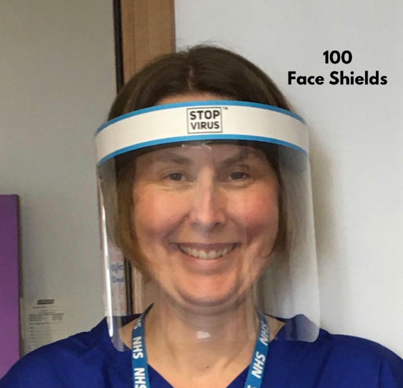 😷 Face Shields -  100 Reusable & Wipeable Face shields (Only £5.95 each)