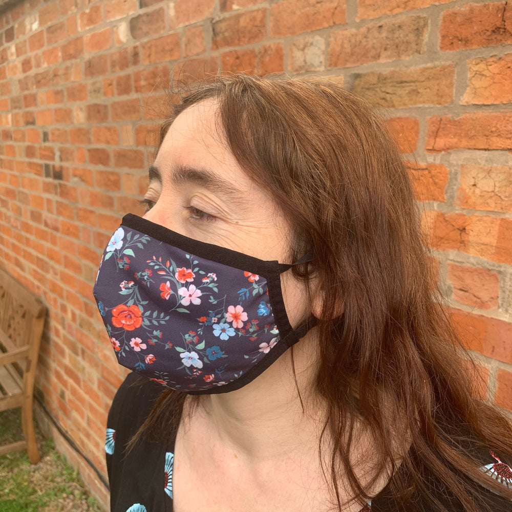 😷 Washable & Reusable Face Mask - Adult - Flowers