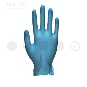 Load image into Gallery viewer, Unicare Soft Blue Vinyl Gloves. Powder Free - 100 Gloves - SMALL