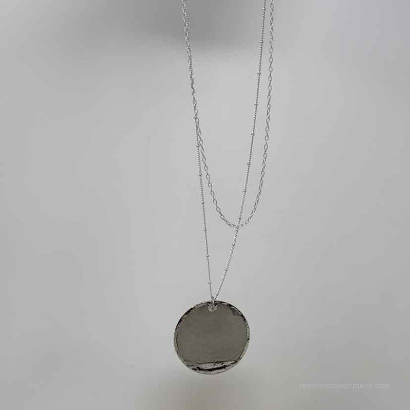 Celebrity Creations silver and gray Necklace