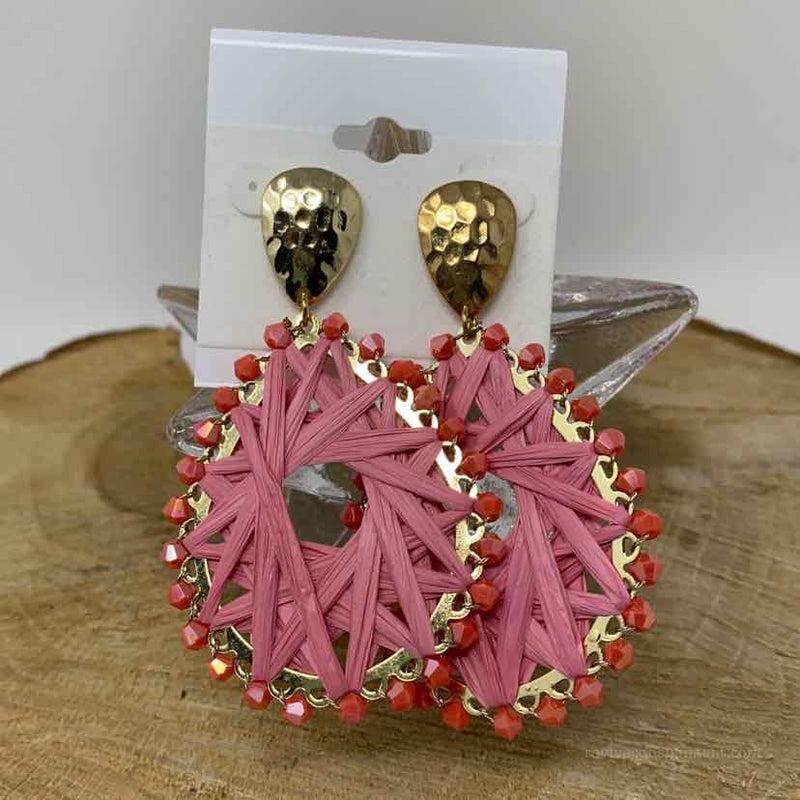 Celebrity Creations Gold and pink Earrings