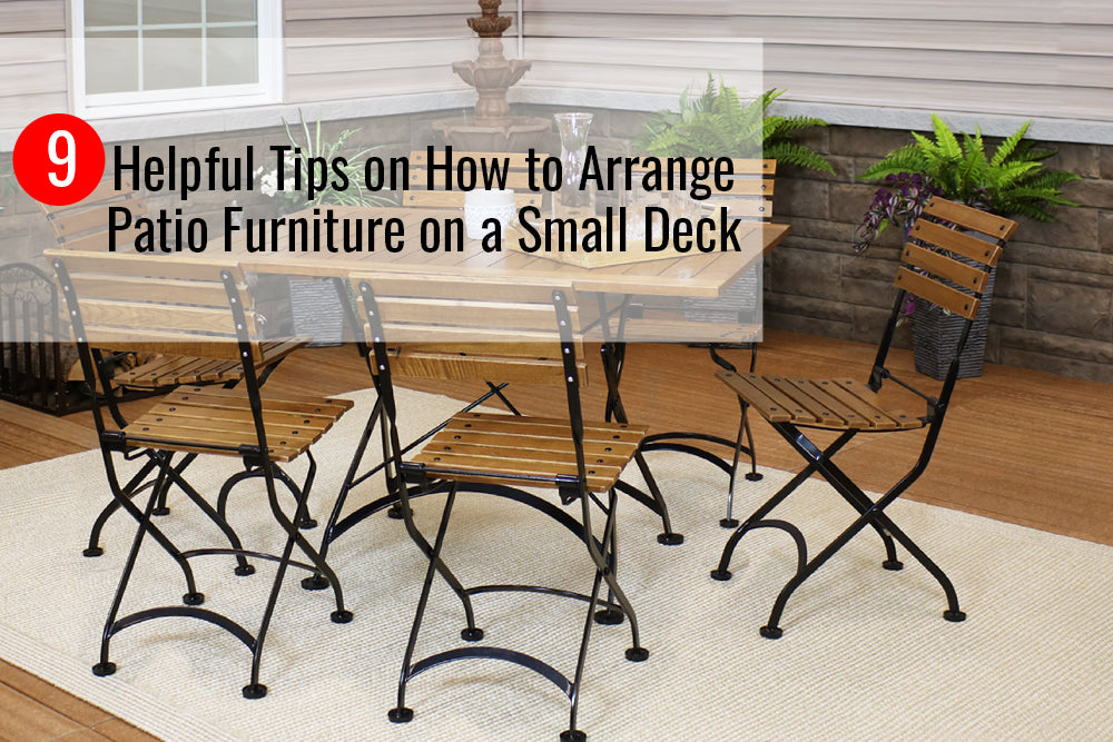 9 Helpful Tips On How To Arrange Patio Furniture On A Small Deck Sunnydaze Decor