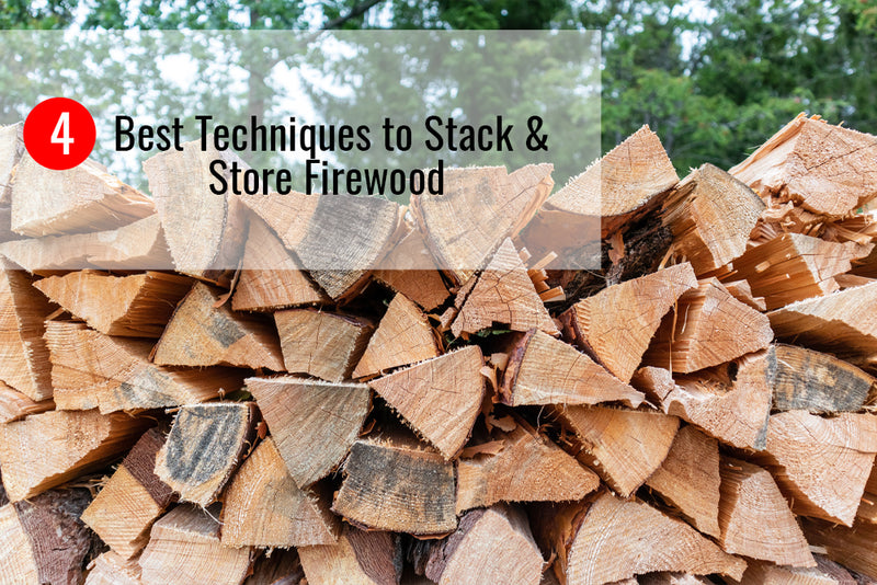 Learn how to stack firewood like a pro