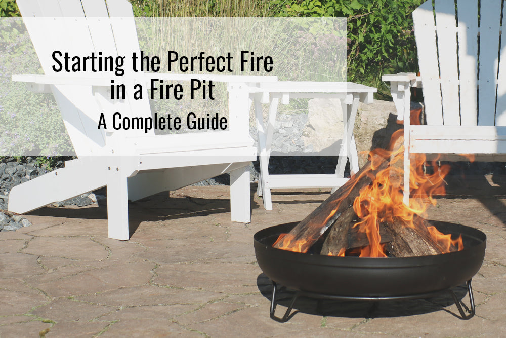 How To Start The Perfect Fire In A Fire Pit Sunnydaze Decor