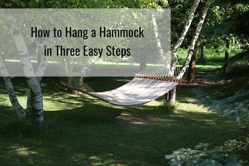 Learn how to hang a hammock in 3 easy steps
